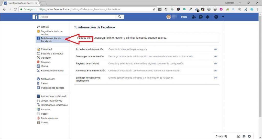 Como eliminar una cuenta de Facebook xiomi