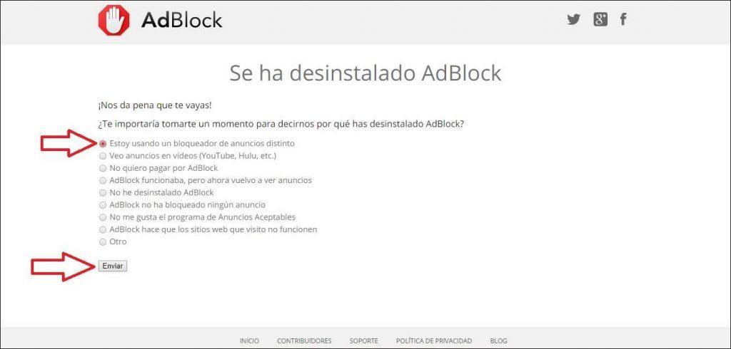 Como eliminar adblock o desinstalarlo paso a paso