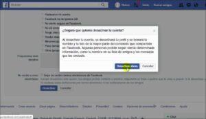 Como Desactivar el Facebook contacto
