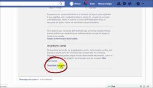 crear cuenta Como Desactivar el Facebook