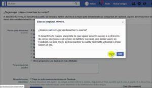 Como Desactivar mi cuenta Facebook