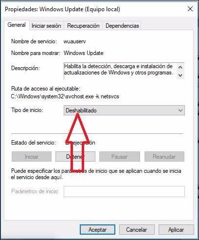 como desactivar windows update hacerlo