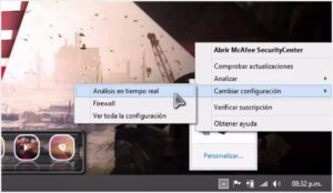 Desactivar el analisis en tiempo real de McAfee