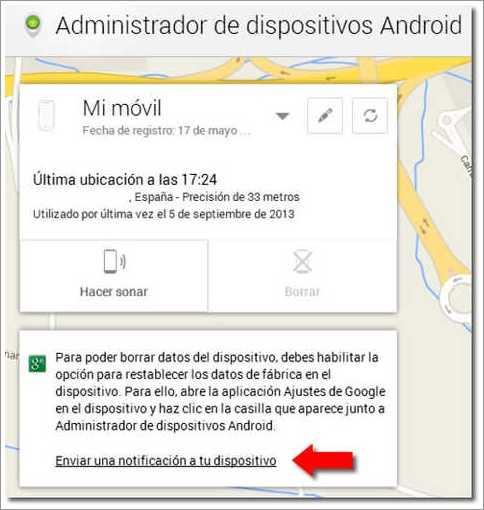 Encontrar mi teléfono celular de Google
