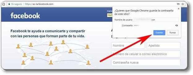 Para acceder a Facebook desde tu PC con Chrome sin contraseña