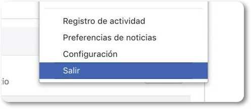 cómo se desconecta de facebook