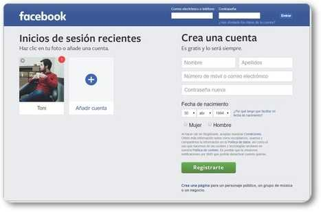 Acceder a Facebook sin usar la contraseña