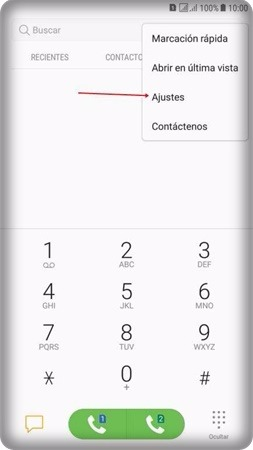 desactivar desvío de llamadas samsung j7