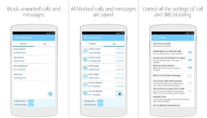 AntiNuisance - Bloqueador de llamadas y bloqueador de SMS
