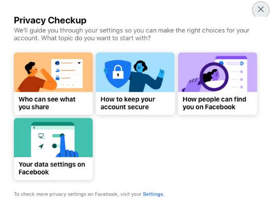 Verificación de privacidad de FB