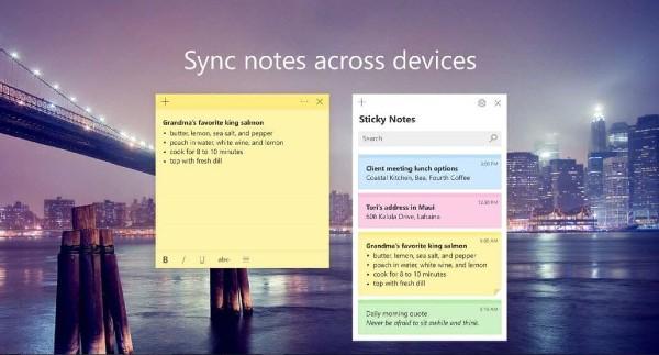 Notas adhesivas de Microsoft