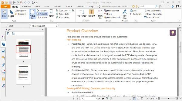Lector de PDF Foxit