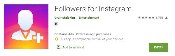 aplicación de seguidores de instagram