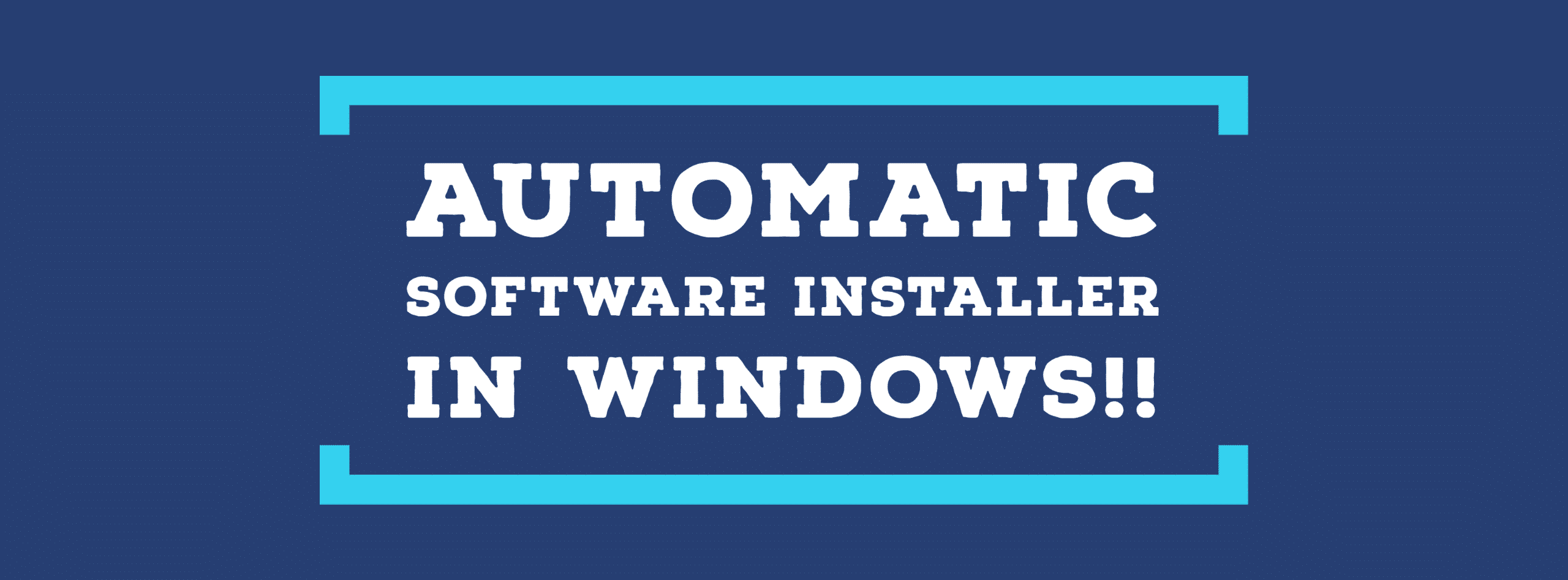 Instalador automático de software en Windows