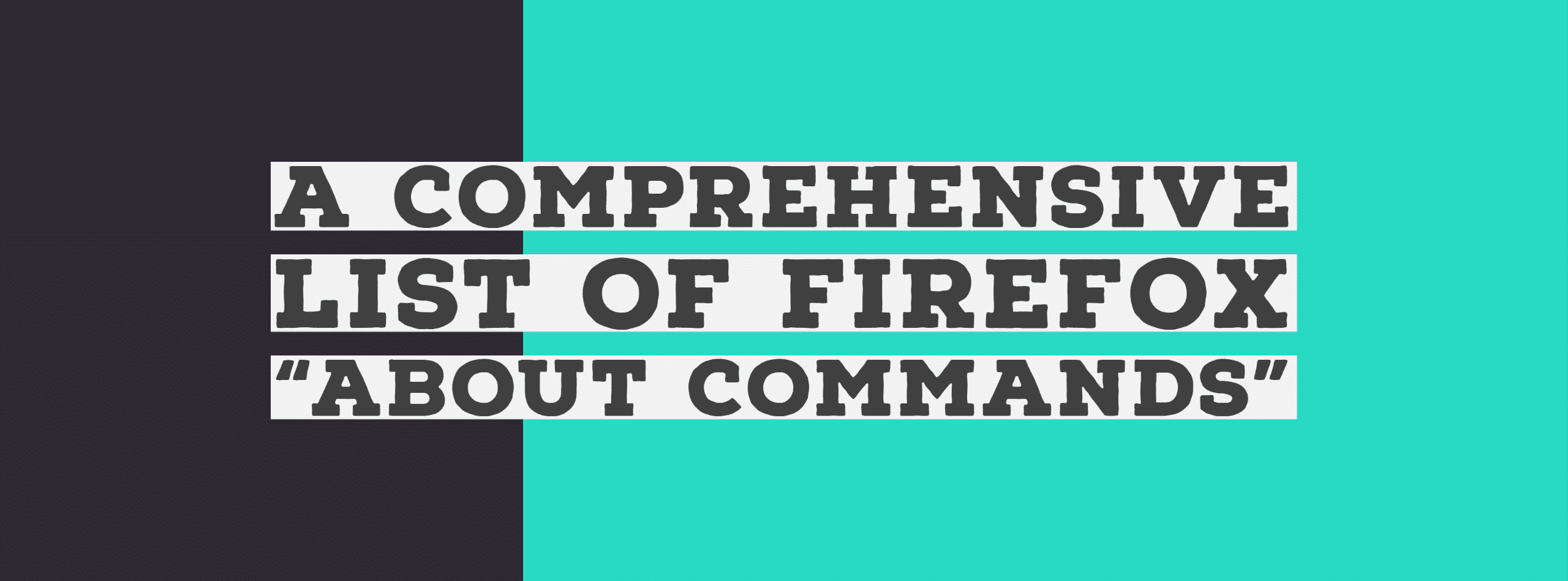 Firefox Acerca de los comandos