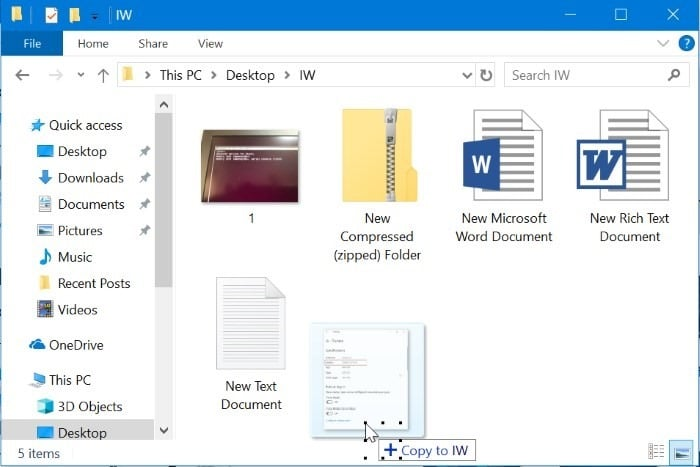 Consejos y trucos del explorador de archivos de Windows 10 pic8