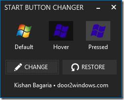 Cambiador de botón de inicio