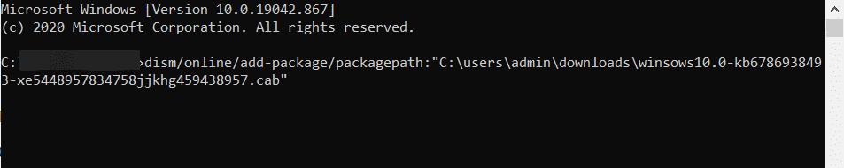 Instalar archivo CAB