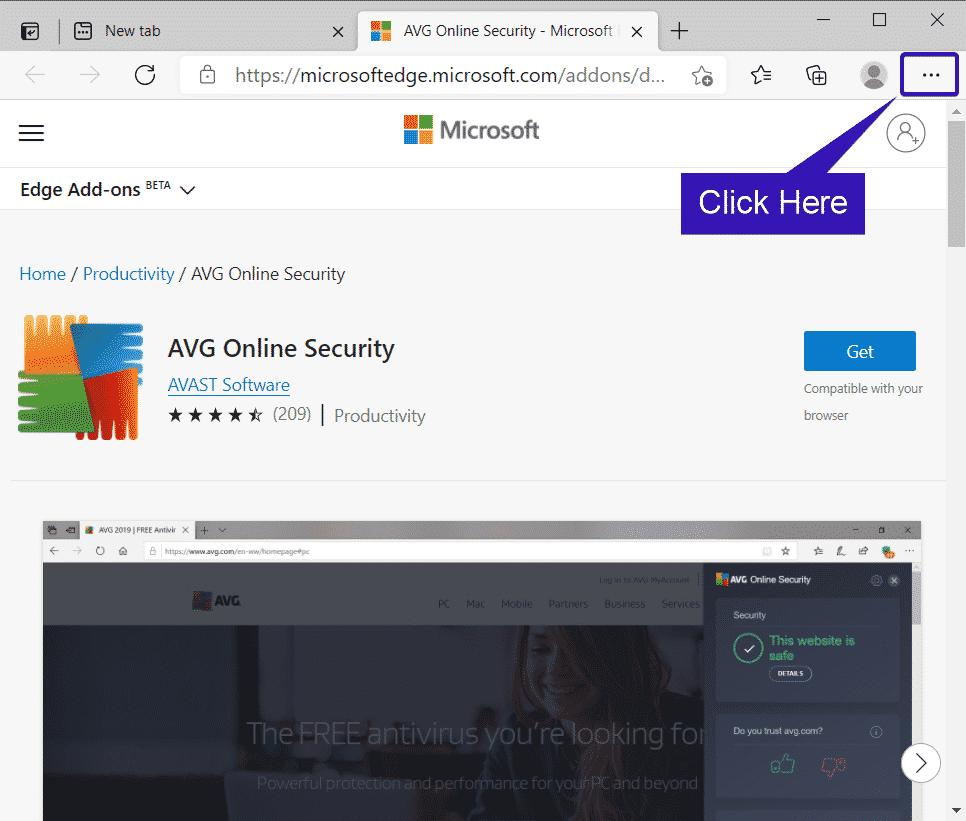 Opciones de borde de Microsoft
