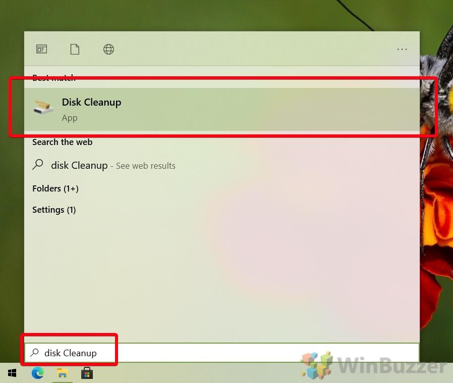 Windows 10 - Liberador de espacio en disco abierto