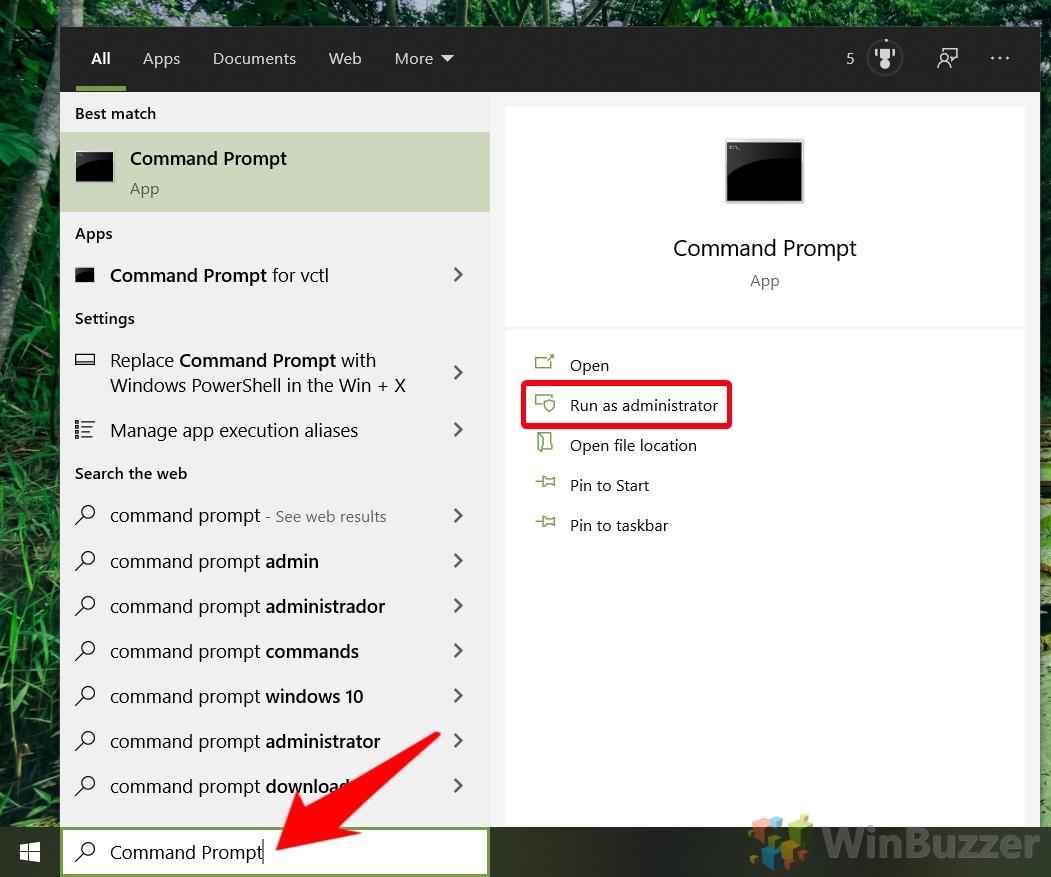 Windows 10: abre CMD con derechos de administrador