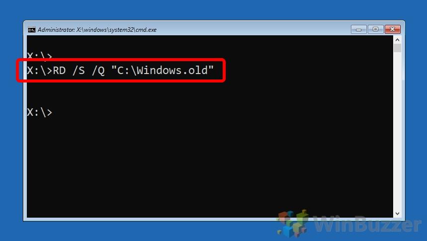 Windows 10 - Opciones de inicio avanzadas - Símbolo del sistema - Diskpart - Volumen de lista - Letra de unidad - Salir - Escriba e ingrese el Cmd