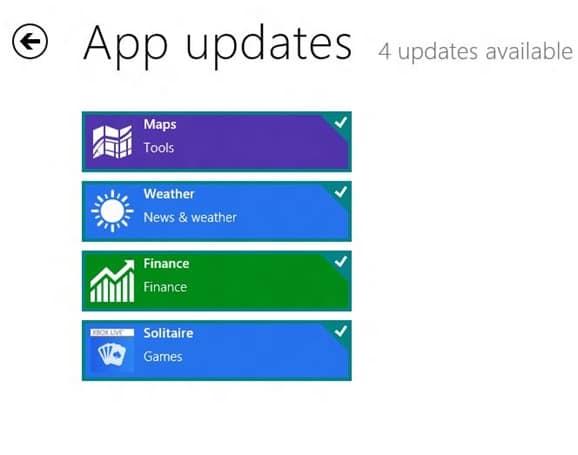 Actualice las aplicaciones de Metro en Windows 8 Step3
