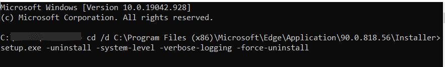 Ruta del archivo de configuración