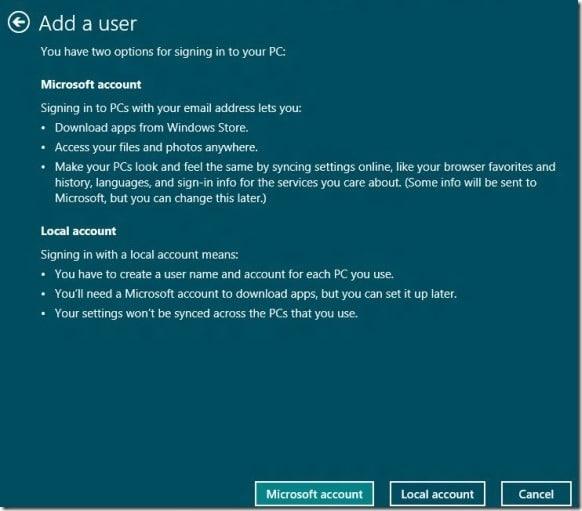 Crear cuenta de usuario en Windows 8 Step2