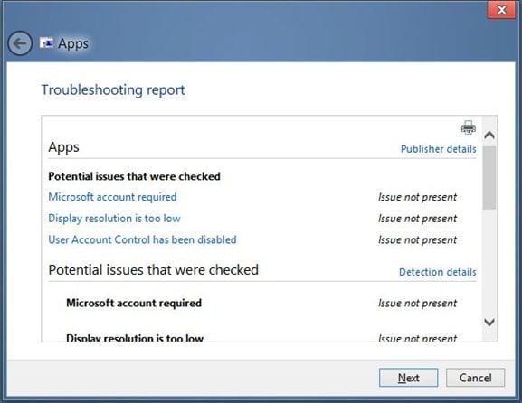 Reparar las aplicaciones de Windows 8 no se ejecutan