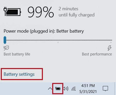 Configuración de la batería