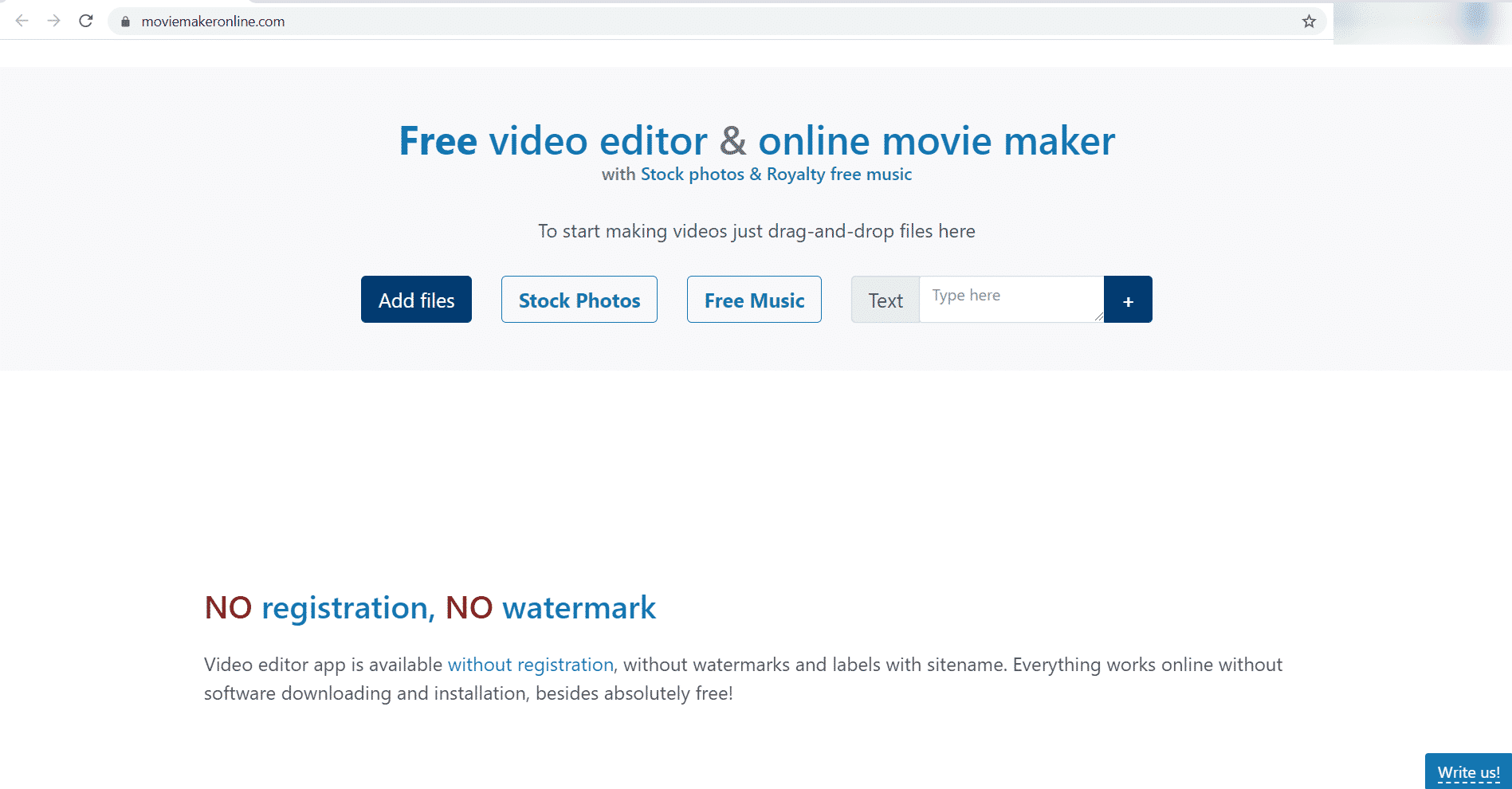 Movie Maker Online y Editor de video