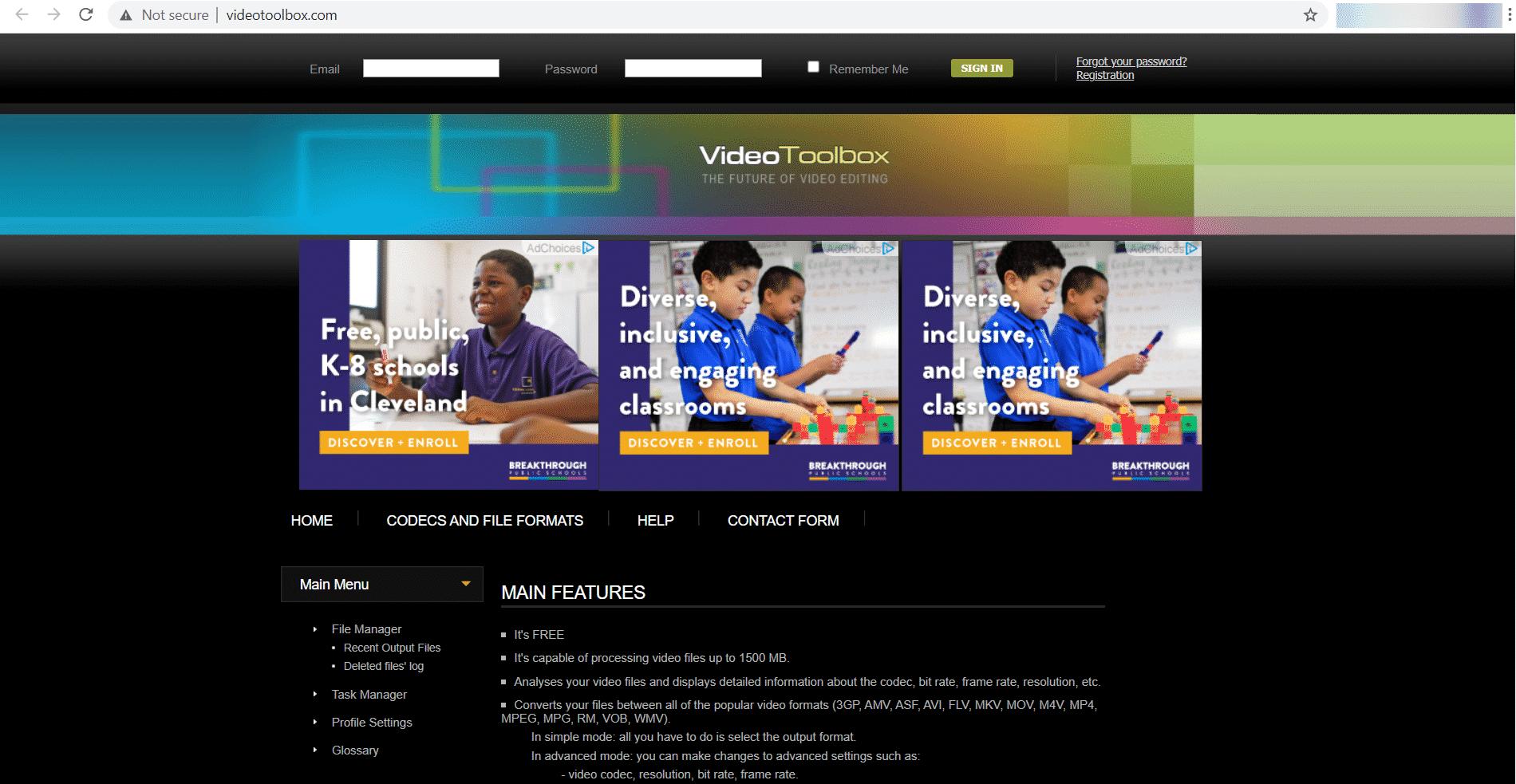 Editor de video en línea - Caja de herramientas de video