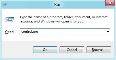 Abra el Panel de control en Windows 8 Imagen 1