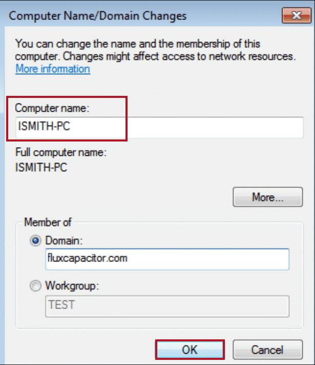 Cambiar el nombre de la computadora