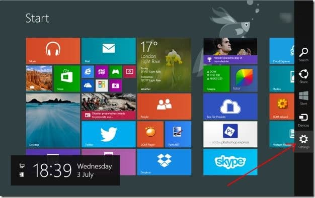 Establecer el fondo de pantalla del escritorio como fondo de la pantalla de inicio Windows 81 Step4