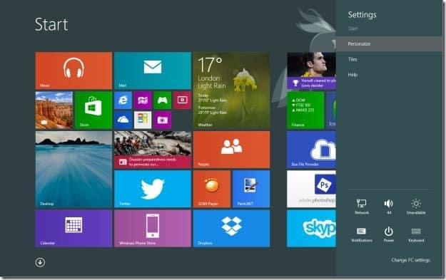 Establecer el fondo de pantalla del escritorio como fondo de la pantalla de inicio Windows 81 Step5