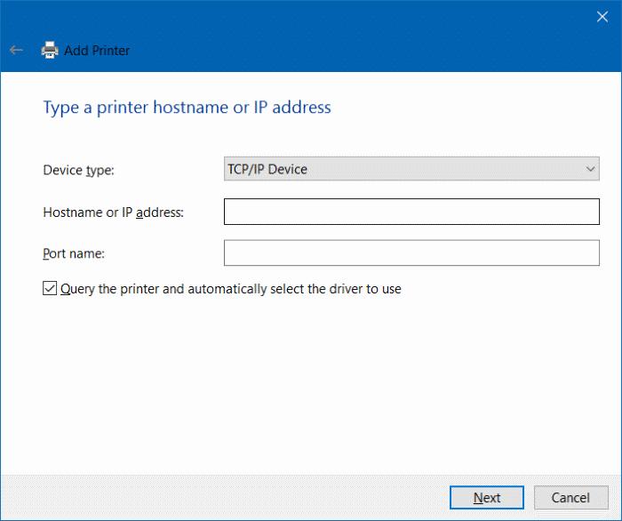 agregar una impresora a Windows 10 step9