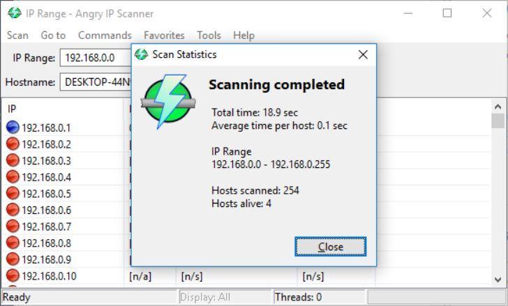 Escáner de IP enojado