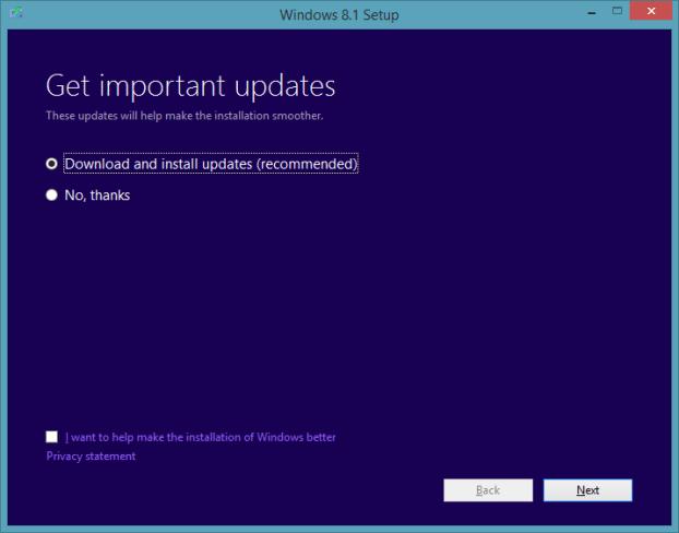 Actualice la vista previa de Windows 8.1 a RTM Step12