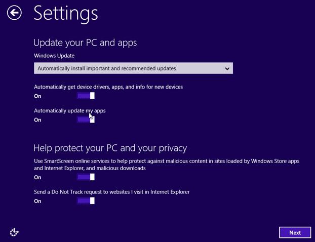 Actualice la vista previa de Windows 8.1 a RTM Step13