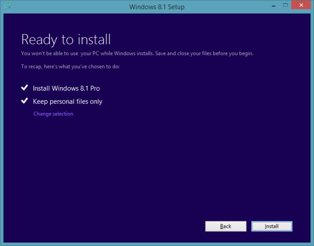 Actualice la vista previa de Windows 8.1 a RTM Step7