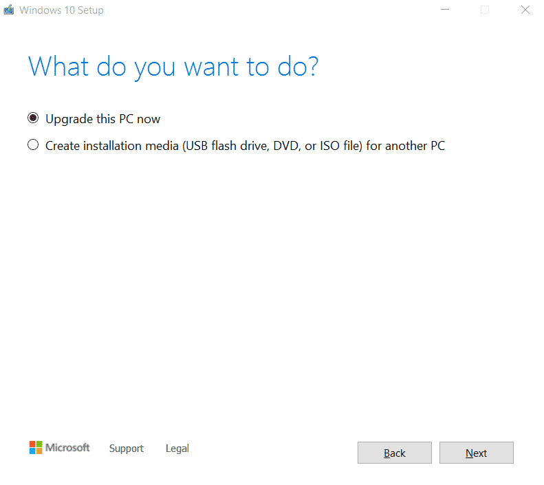 Configuración de Windows10
