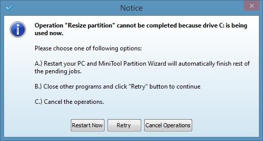 Amplíe la partición del sistema en Windows 8.1 Método 2 Step7