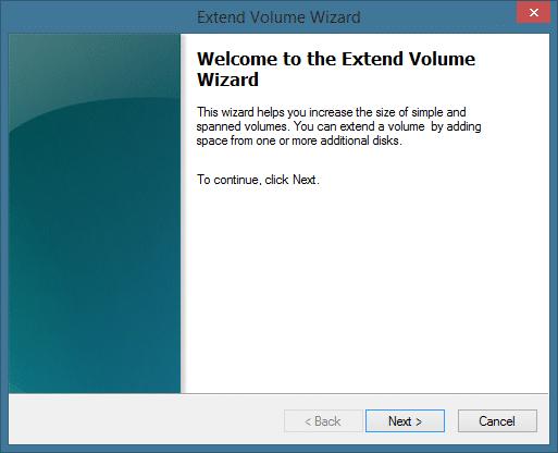 Amplíe la partición del sistema en Windows 8.1 Método 1 Paso 2