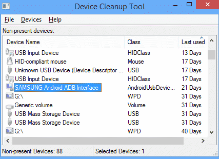 Herramienta de limpieza de dispositivos