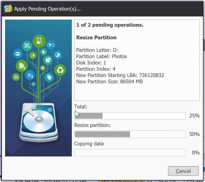 extender la partición atenuada en Windows 10 pic6