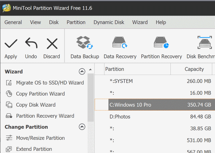 extender la partición atenuada en Windows 10 pic4
