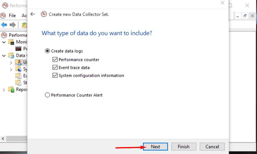 Tipo de datos para incluir en el conjunto de datos