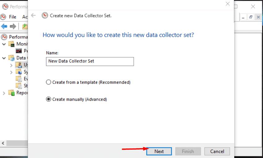 Nombre su conjunto de recopiladores de datos